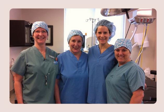 OR Staff with Dr Gloria Rockwell, Plastic Surgeon in Ottawa